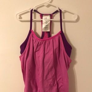 Ivivva double pink and purple tank top